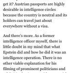 "Image for the Tweet beginning: Philip Giraldi: ""Austrian passports are"