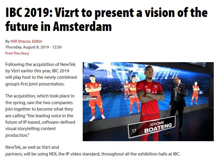 Vizrt - @vizrt Twitter Profile and Downloader   Twipu
