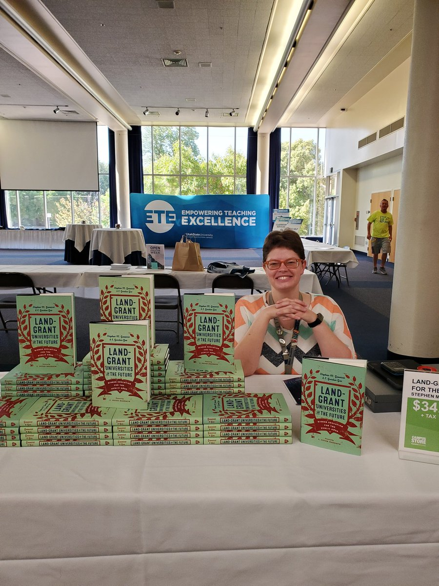 Thanks to the @USUAggies audience today at the @EmpowerTeaching conference #ETE2019 don't forget to pick up your @JHUPress book and I will be around after lunch to sign copies<br>http://pic.twitter.com/ylyrAv9nIv – à USU Taggart Student Center