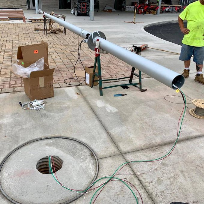 #FlagpoleLighting can be simple. #Winch #Cable Rigging with #BeaconLighting from center of #GroundSleeve up into #flagpole. https://t.co/tcJJTzM4QO https://t.co/FtJ2hUx0dC