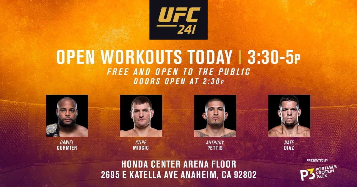 Will we see you this afternoon!? #UFC241