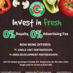 Freshslice Pizza: 0% Royalty, 0% Advertising; a disruptive business model that's flipping the franchise world upside down. They're expanding & need entrepreneurs to take on franchisee & master franchisee roles. Visit @pizzafreshslice at the Toronto Franchise Expo, Sept 7/8!