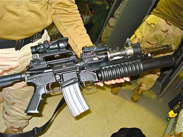 First of, no. You can't empty a 20 or 30 round magazine as fast as an M4-A1 does.  And there are only a hand full of folks that might come close. Second, the fact that you can't even say magazine makes everything else you said suspect. At best. Pic related: my M4 from Iraq.