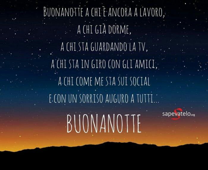 Una Buona Serata E Felice Notte A Tutti A Domani