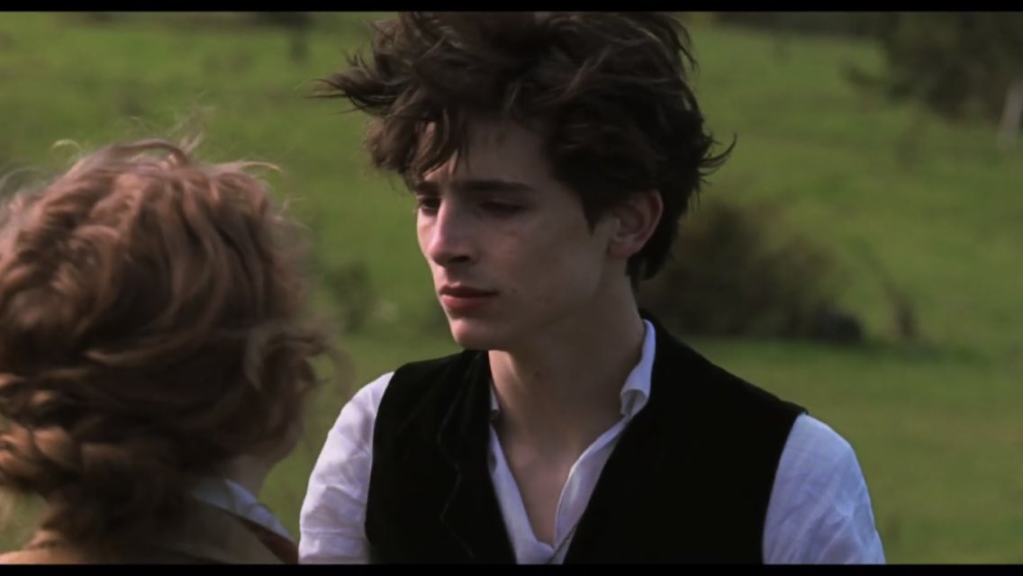 look at his hAir! look at his hAIRERR #LittleWomen #TimotheeChalamet