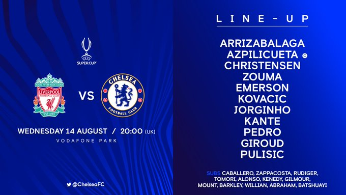 UEFA Super Cup 2019: Liverpool Vs Chelsea EB8uWT3XYAAc0h2?format=jpg&name=small