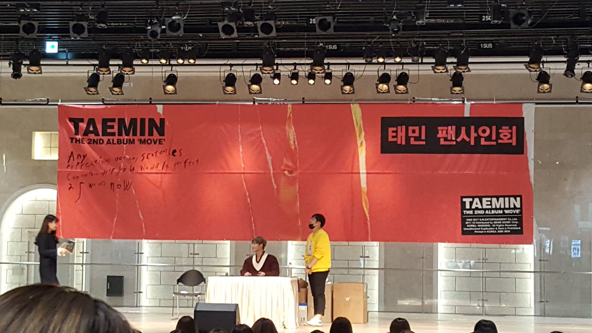 #태민아_솔로데뷔5주년_축하해  2017.10.21  Move album fansign event at Lotte World Tower  Old one and I think this is my first and last time witnessing Taemin's solo activity directly.  Congratulations uri maknae Lee Taemin, you are definitely our one and only ACE  <br>http://pic.twitter.com/lhBNb5cvdc