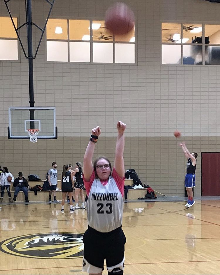 "Happy #NationalLeftHandersDay from this awful pic of me warming up for corec! Remember kids, you can always switch hands to your ""less dominant"" hand in sports! But don't do it in the middle of season like I did 9 years ago #lefties"