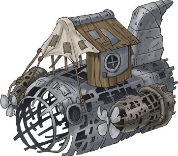 An old crashed airship turned into a shanty home. #steampunk #indiegame #indiegamedev  Wishlist Age of Grit: https://t.co/oLI2tfLClp