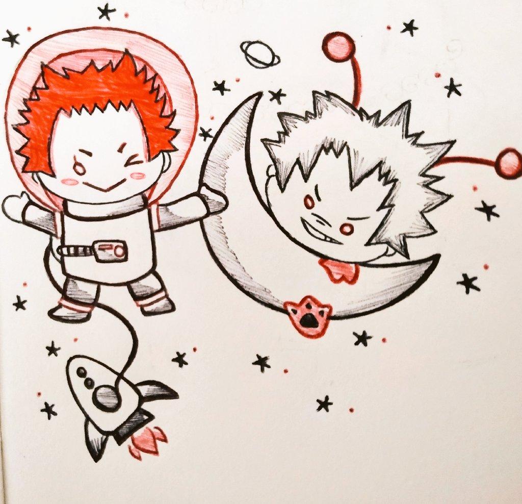 Day 14: Space   #kiribakumonth2019 #krbkmonth #kiribakumonth #kiribaku #KirishimaEijirou #bakugoukatsuki #BakuShima #chibi #nitotan #sketchbook #sketch #BrArt<br>http://pic.twitter.com/yYTRXsSCBP
