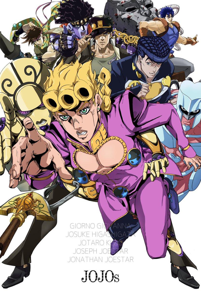 時間かかっちゃった5部アニメ終了という事でアニメ化シリーズのジョジョさん達を描いてみました☺️最終回最高に最高でした😭