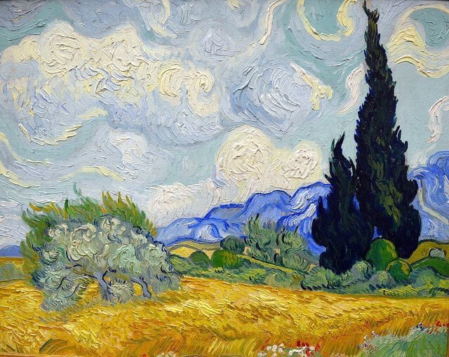 "VAN GOGH, ""WHEAT FIELD WITH CYPRESSES"" 1889 #vangogh #art #arttwit #twitart #iloveart #artlover<br>http://pic.twitter.com/eBWCVqekaX"