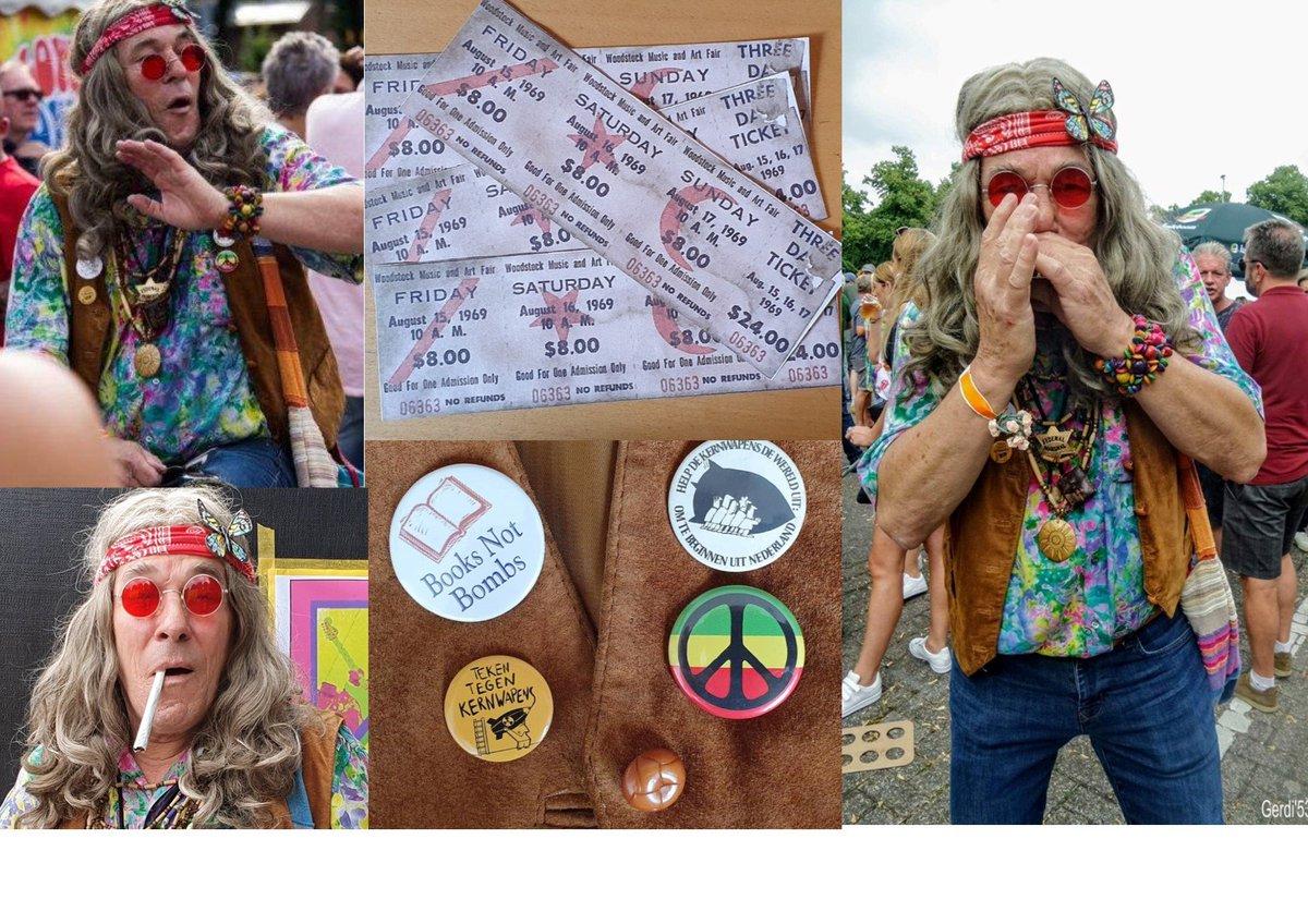 1969 Nog 1 nachtje slapen en dan..... #Woodstock 15, 16 en 17 augustus  Wauw, #StopVietnam, #MakeLoveNotWar #PeaceMan