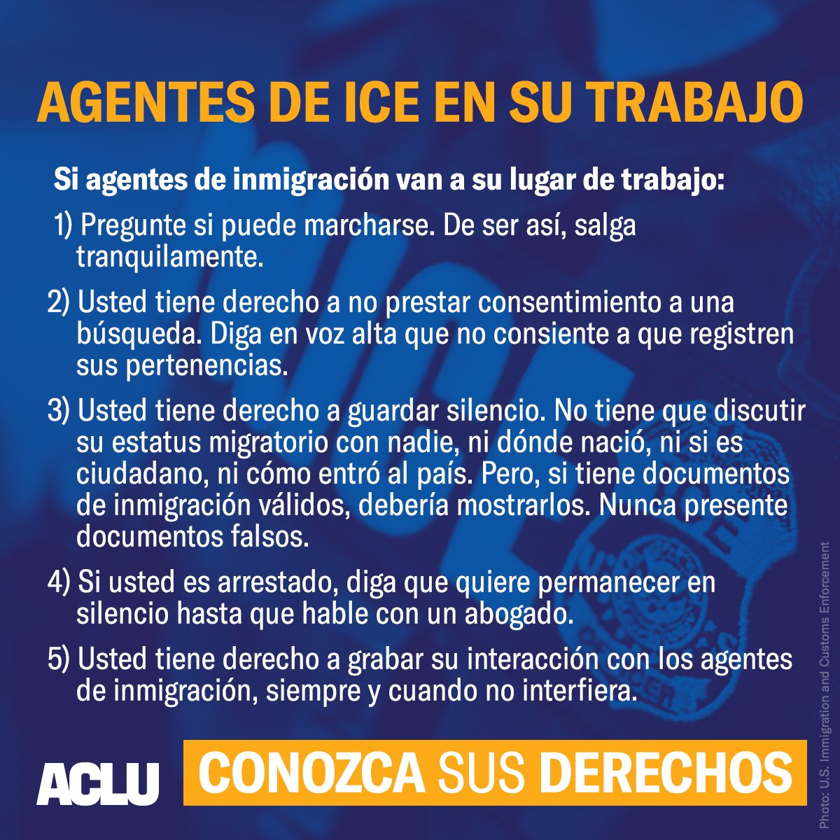 Heads up: Friends in Western NC are reporting the possibility of imminent ICE raids.  Know your rights.  #ICEraids <br>http://pic.twitter.com/TRuASlEhqe