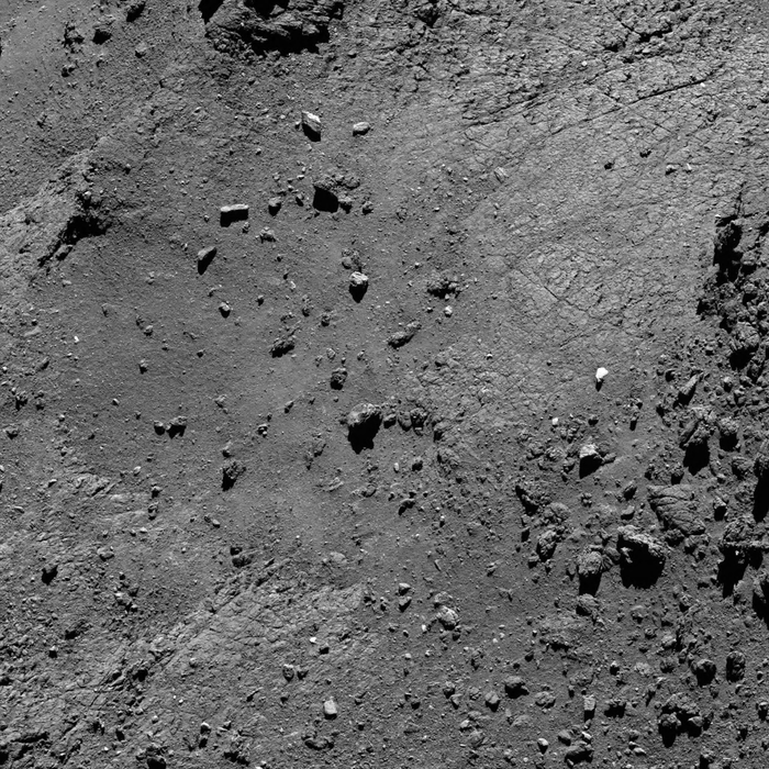 #OTD 15 August 2016, a view of the Seth region of #Comet67P/Churyumov-Gerasimenko as seen by the @ESA_Rosetta Mission from a distance of 5.5 km @esascience esa.int/spaceinimages/…