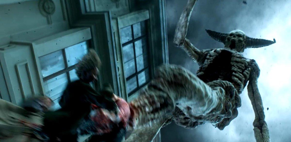 """On a 3 monstres de l'acte final du dernier HellBoy, et un hybride humain-protomolécule dans la série The Expanse . Je vois beaucoup de monstres issus de """"vieux"""" films, il y a des designs intéressant dans les productions plus récentes aussi :D <br>http://pic.twitter.com/cNTYI013nD"""
