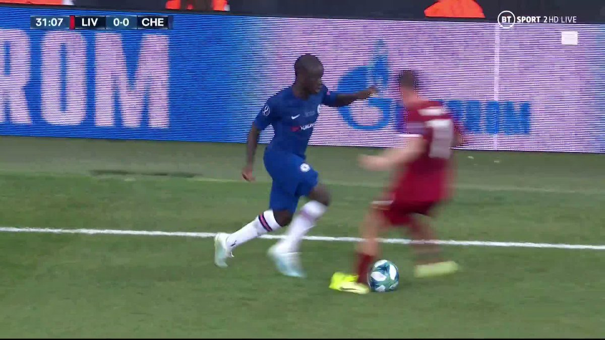 The moment Kante sent Milner for a hotdog 😂😂😂  #LIVCHE #SuperCup