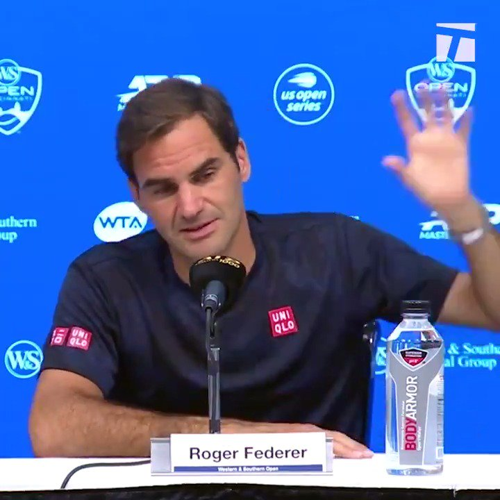 To be able to make a living from what you love is the cool part. @rogerfederer putting things into perspective 😊 @TennisChannel | @CincyTennis