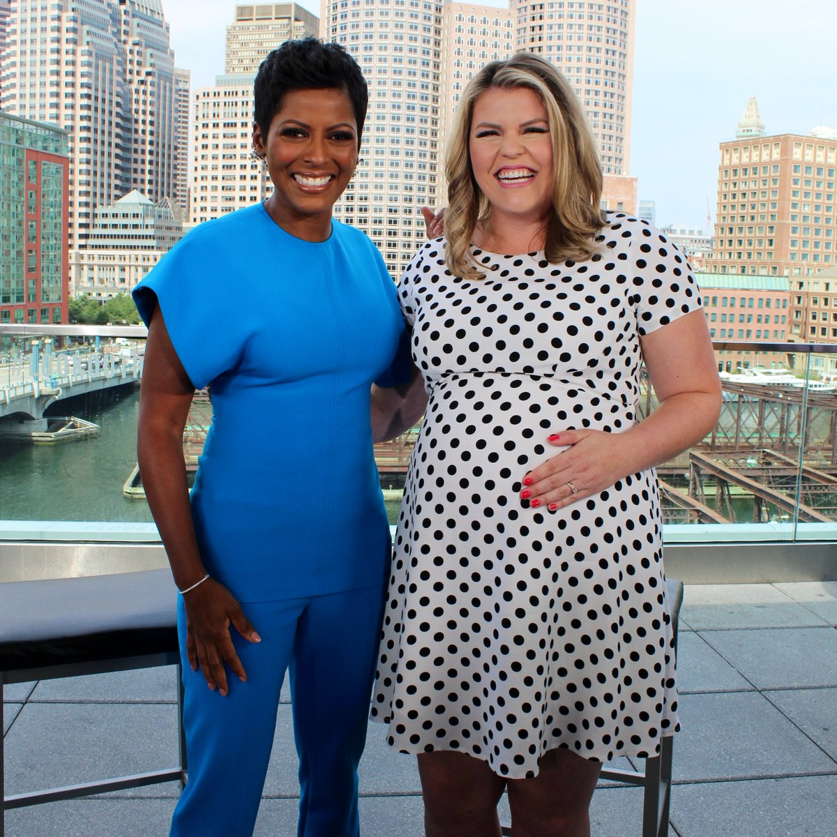 "The ""TamronHall"" show summer tour is winding down. We couldn't end our tour without visiting Boston! @tamronhall had an amazing day chatting with @WCVB, @WMTWTV, @WMUR9, and @MyNBC5. What a fun visit!!! Where do you think we're going next?"