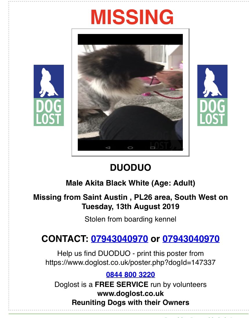 Everyone please share. Our brave boys saved from China have been stolen. Duoduo #akita and mash #GermanShepherd  Please share like mad. Make them too hot to handle. They've been through enough!! #stolen #stolendogs<br>http://pic.twitter.com/0Uy4pFIaF0