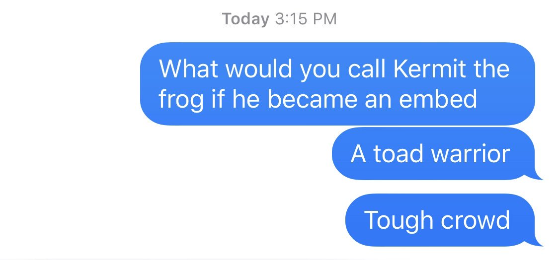 i texted @alivitali what i thought was a great joke. let's see how it went for me.