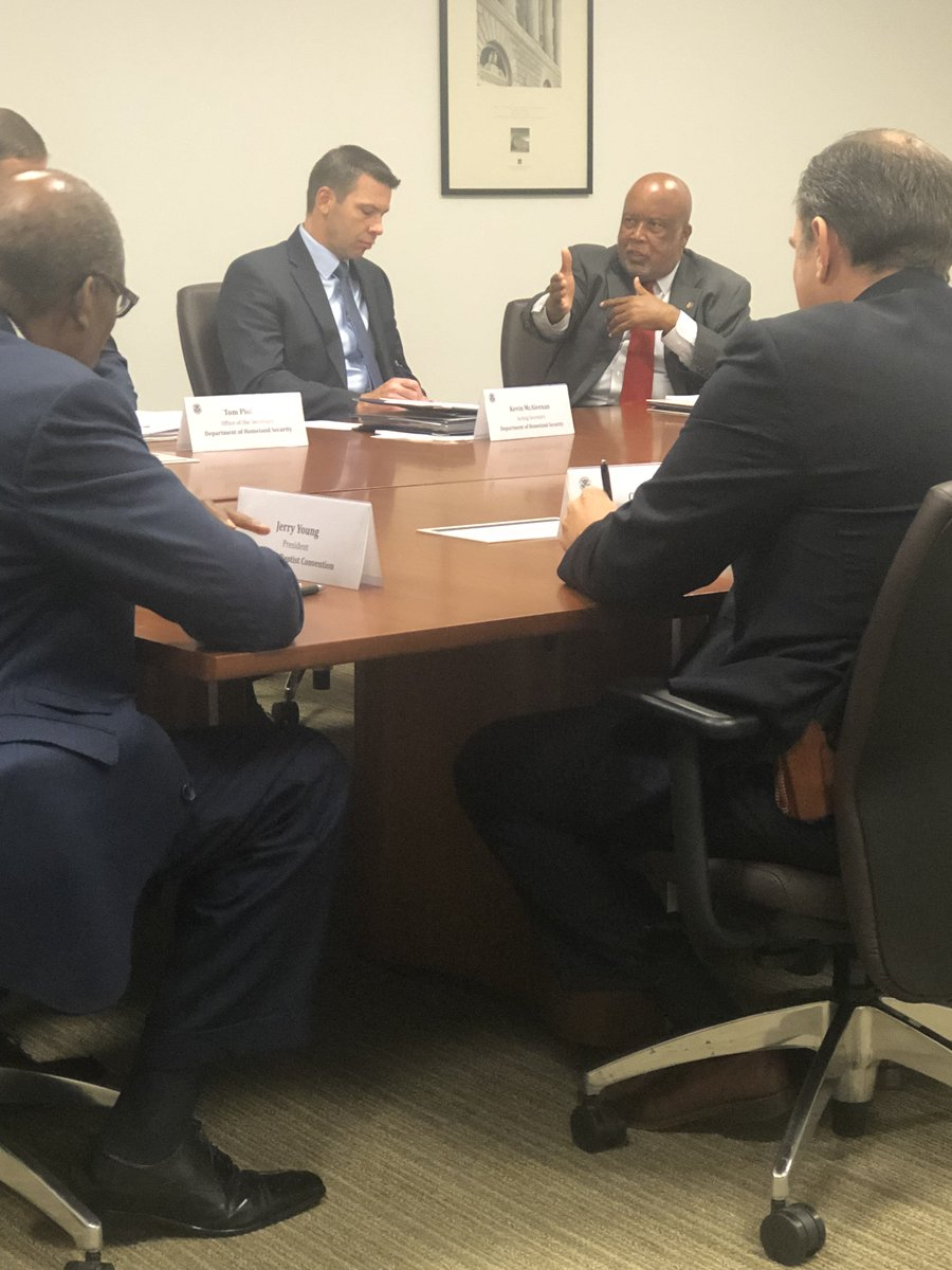 Yesterday, Acting Secretary Kevin K. McAleenan accepted my invitation to come to Jackson to address the Homeland Security Advisory Councils Subcommittee for the Prevention of Targeted Violence Against Faith-Based Communities.