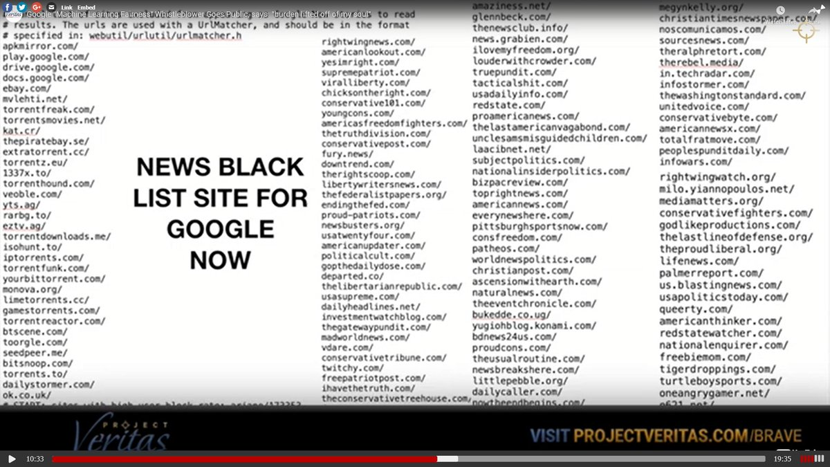 I told you so... In 2016, I published a long investigative article - The New Censorship - in @usnews explaining how 9 of #Googles #blacklists work: usnews.com/opinion/articl… Now, thanks to Google #whistleblower @VorhiesZach, we get to see an actual blacklist used to censor news: