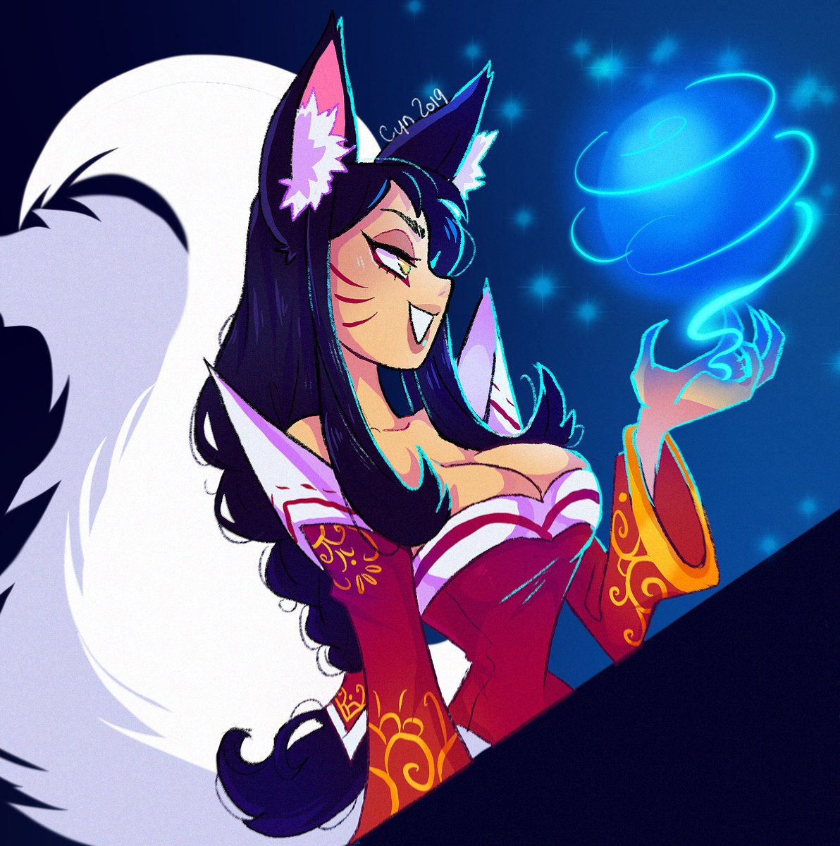 I haven't drawn Ahri in a while and wanted to fix that! #LeagueOfLegends #ArtofLegends<br>http://pic.twitter.com/7pyyiJLO1W