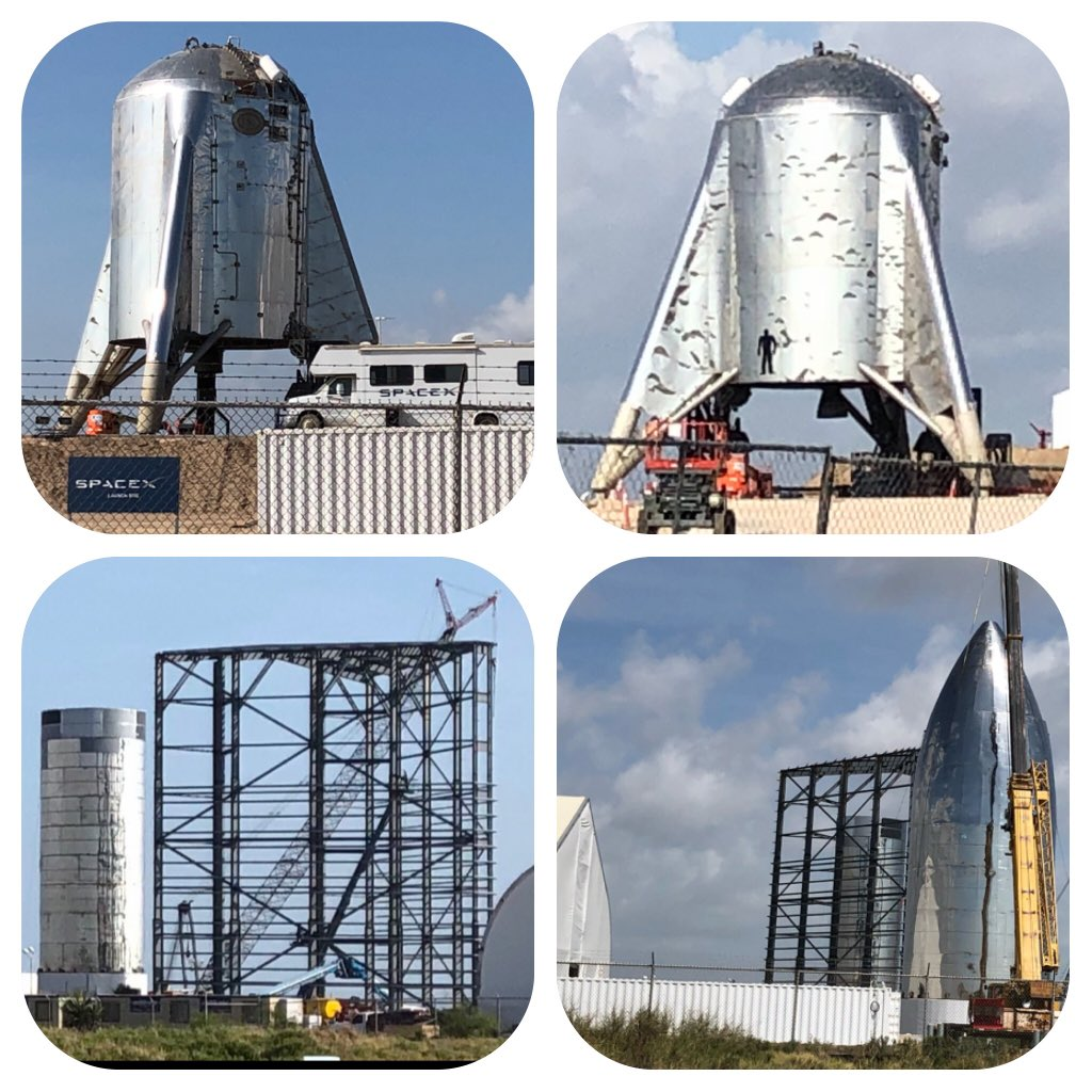 SpaceX #Starhopper w/ Raptor SN6 and Starship Mk1 - Boca Chica, TX (Aug 14)