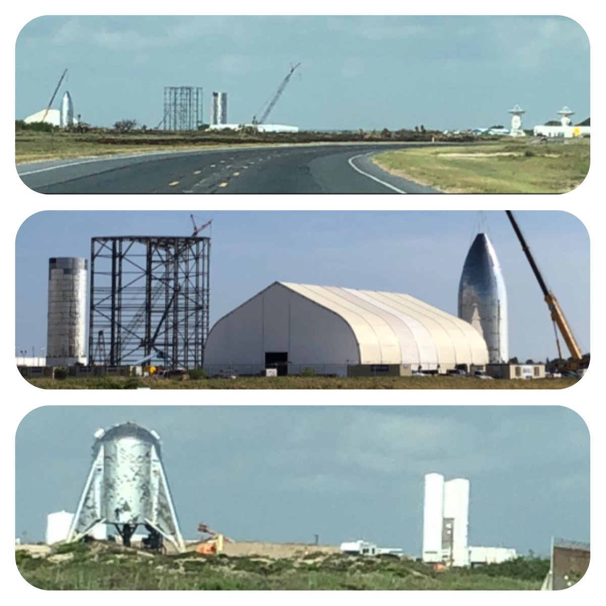SpaceX Boca Chica - Starship Mk1 and Starhopper (Aug 14)