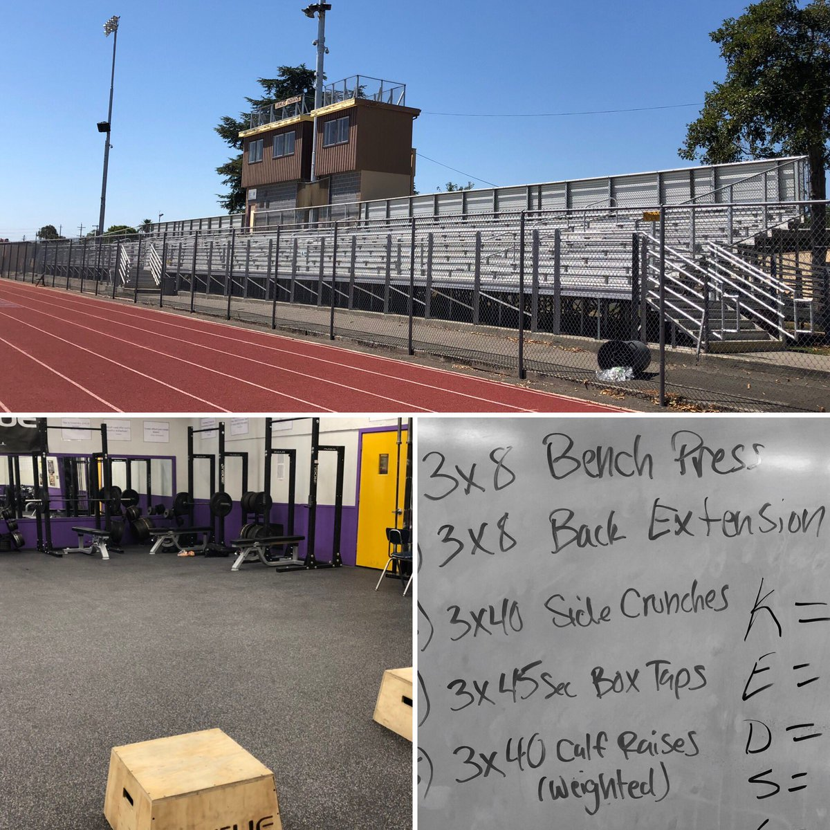 Last day of summer conditioning and we conquered a couple bleacher circuits and some light work in the weight room.  @ArmijoAthletics #armijosoccer #summertraining <br>http://pic.twitter.com/yA7XyLISHM – à Armijo High School
