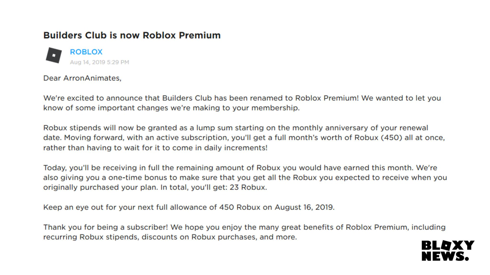Bloxy News On Twitter Bloxynews Here Is What The Roblox Premium Page Will Look Like The Second Picture Is The Message You Will Receive When Builders Club Officially Changes To Premium