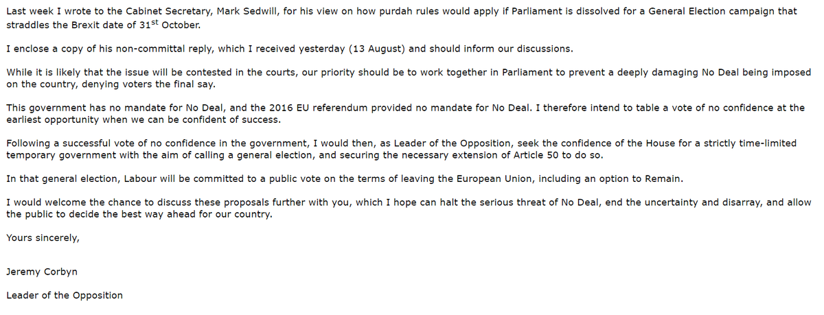 Here is the full text of the letter that has been sent to Ian Blackford, Jo Swinson, Liz Saville Roberts, Caroline Lucas, Dominic Grieve, Oliver Letwin, Nick Boles and Caroline Spelman.