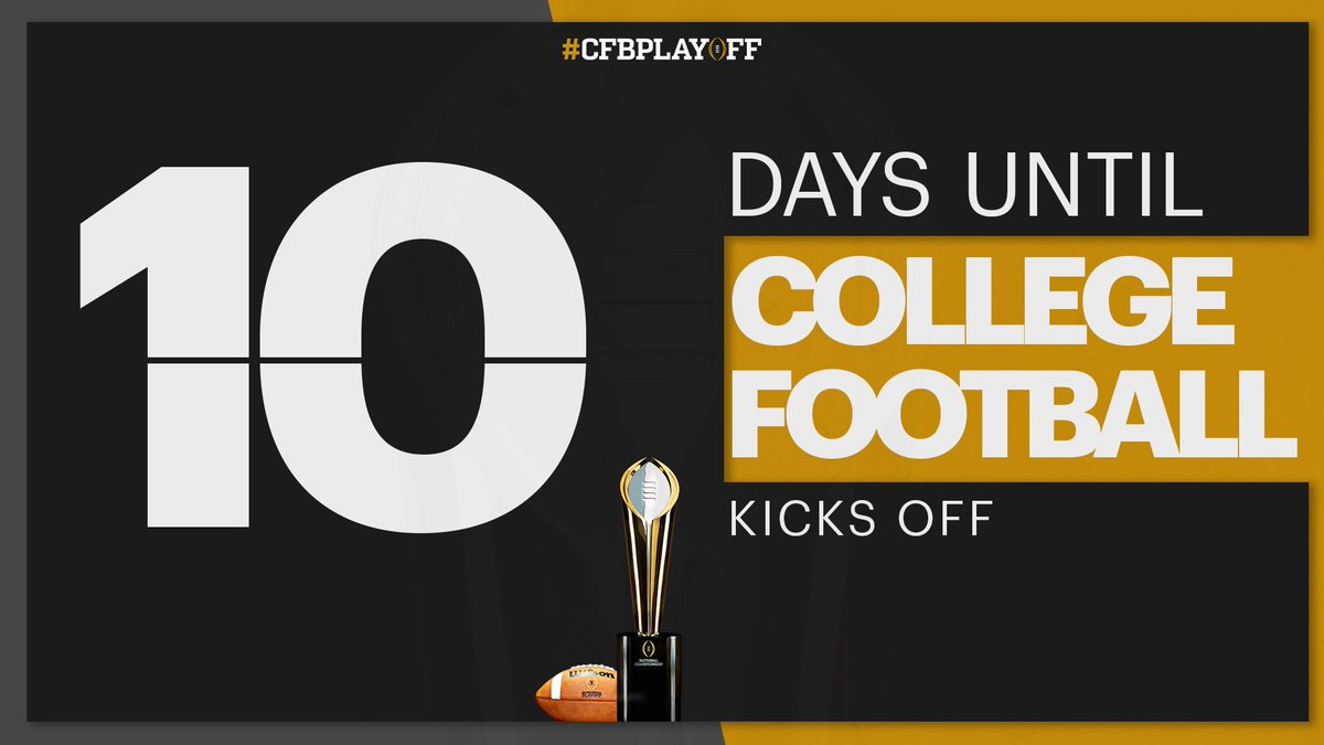 Just 🔟 more days until 🏈❗️ #CFBPlayoff