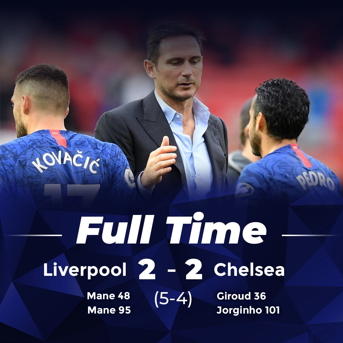 Can't knock that performance I thought we was excellent against a strong Liverpool side. Excited to see more of Pulisic and Mount, thought they were great. Back to the drawing board for Leicester Sunday. 🔵 #CFC #LIVCHE