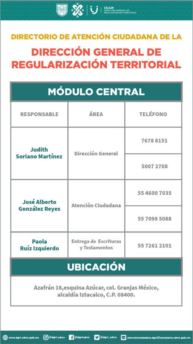 Dirección General De Regularización Territorial A Twitter