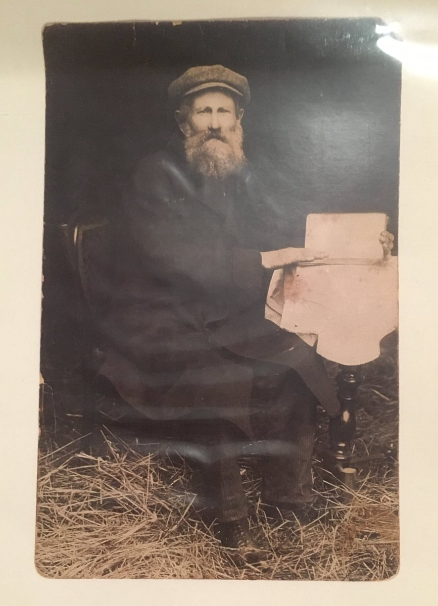 This evening I saw @FiddlerWestEnd. This week I also saw a picture of my great-great-grandfather Aaron for the first time (below). Aaron's Russian shtetl was liquidated by the Nazis. Thank you to the cast of Fiddler for transporting me back to the lost world of my heritage