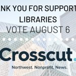 Image for the Tweet beginning: Thanks to Crosscut for publishing