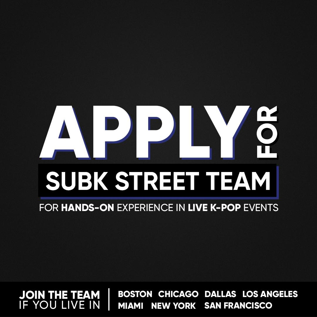 Looking for hands-on experience in live #Kpop events? Apply