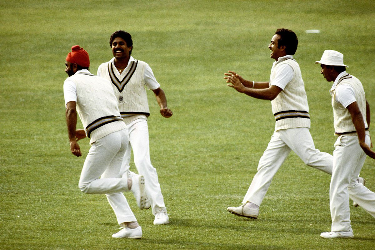 HappyBirthday to the Lord of 🍌 swing, Mumbai & India's Balwinder S Sandhu, born #OnThisDay, '56.That Greenidge dismissal wasn't a one-off, Sandhu castled him in the same way earlier in #CWC83, a test at PoS in Mar '83.Also had 2 test 50s as a lower order bat.Pics:GettyImages