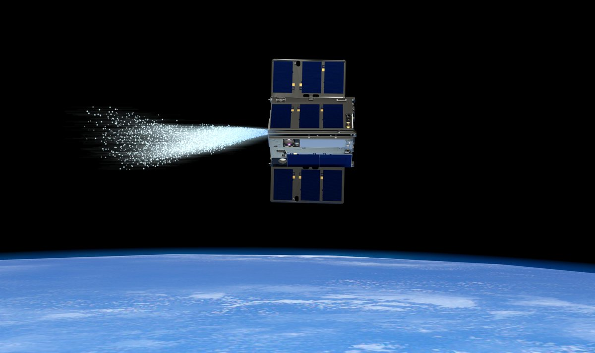 "Learning how to safely operate small spacecraft in close proximity is key for using swarms of them during science & exploration missions in and beyond Earth orbit. In a first, two CubeSats propelled by water recently performed a ""dance"" above our planet: go.nasa.gov/2LXIaOq"