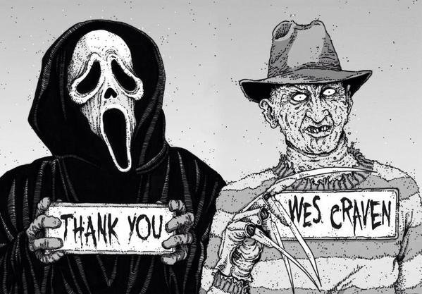 Happy 80th Birthday to Wes Craven.  RIP sir. Miss your voice and vision.