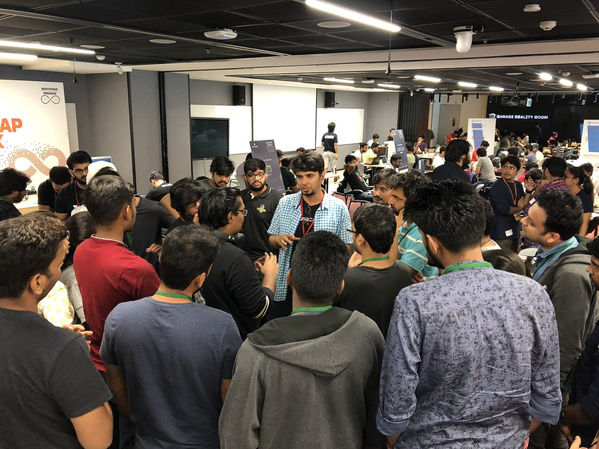 @unacademy folks interacting with devs in their zone at #bootstrapparadox amazing energy :)