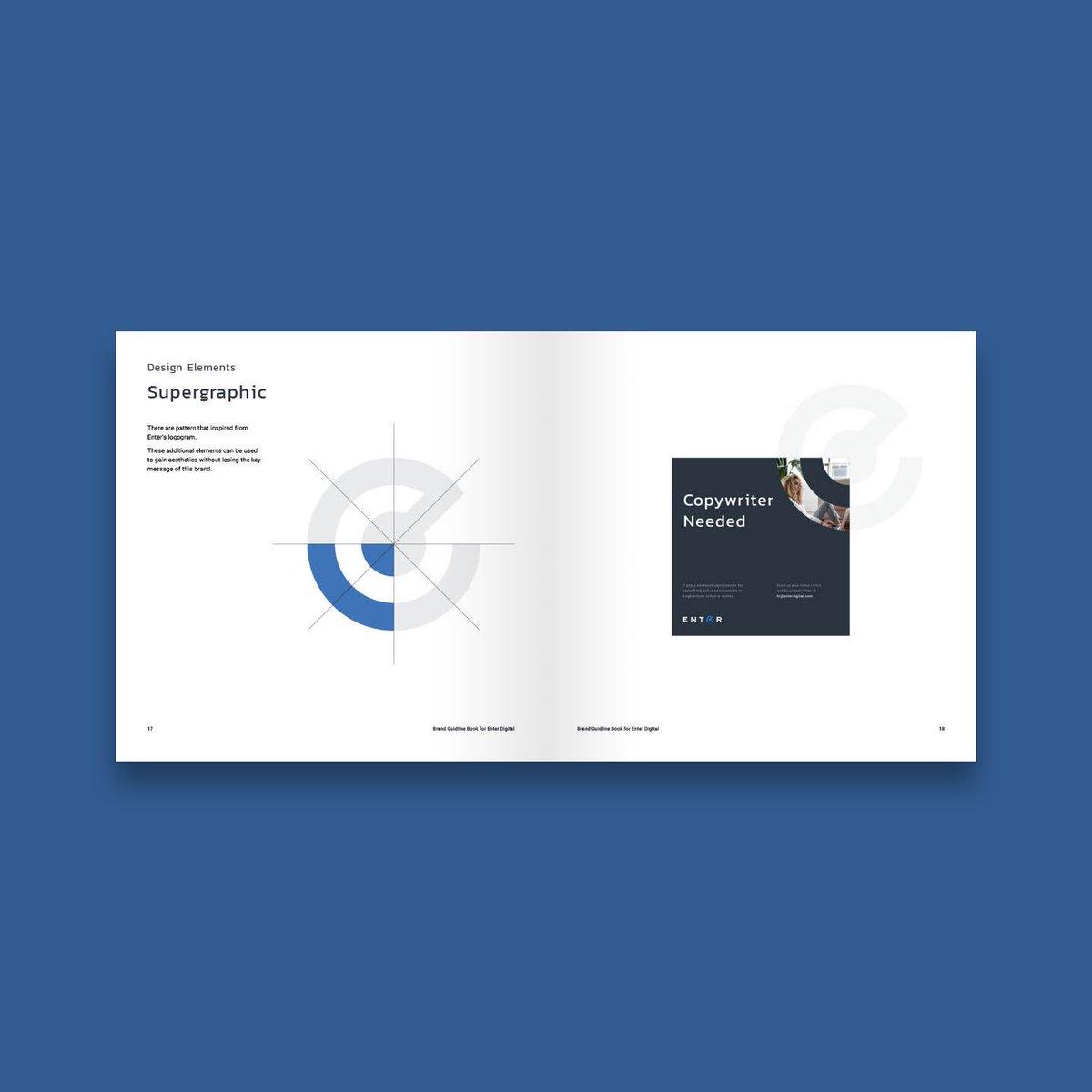 Work in progress brand book for Enter #logodesigns #workinprogress #brandbook #brandguidelines #brandidentitydesign #branddesign https://t.co/HZlDM8Kp14