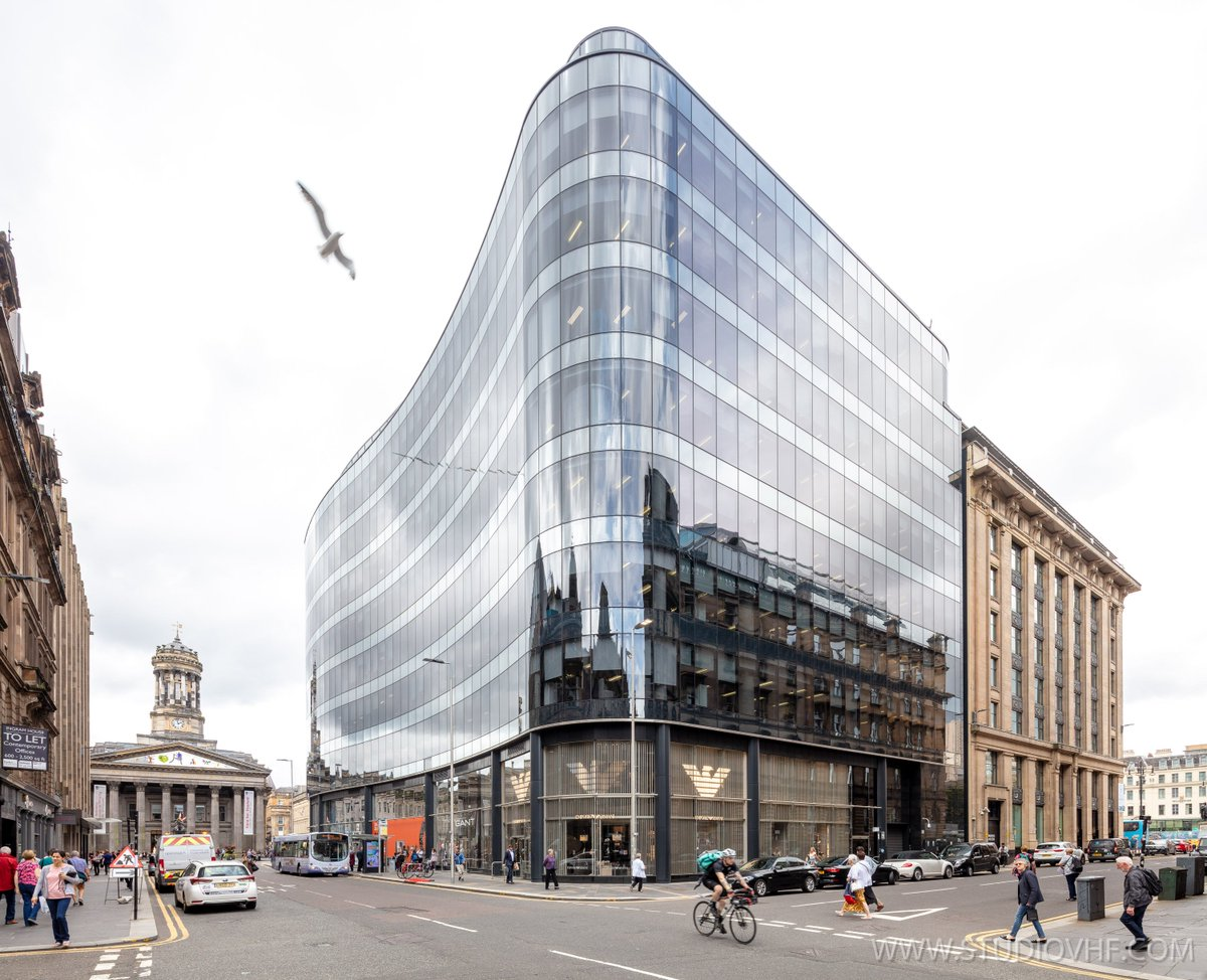 Quite chuffed with this image of an office building in #Glasgow #IngramStreet #HannoverStreet #QueenStreet consisting of 2 images taken with a 17mmT/S on the 5DS:
