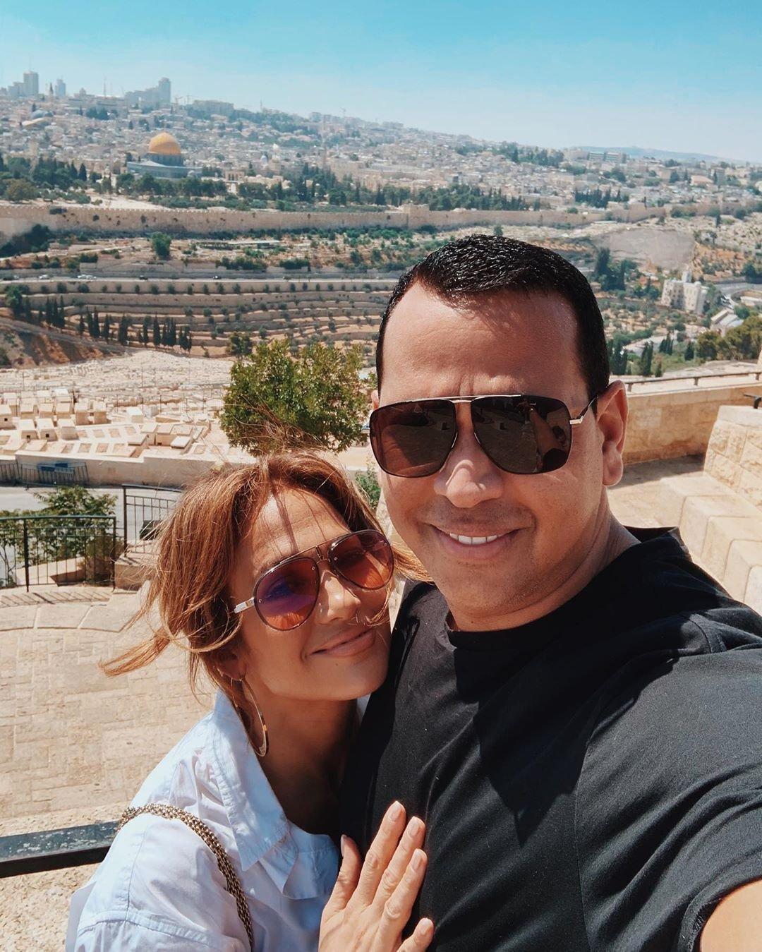 Дженнифер Лопес и Алекс Родригес в Иерусалиме