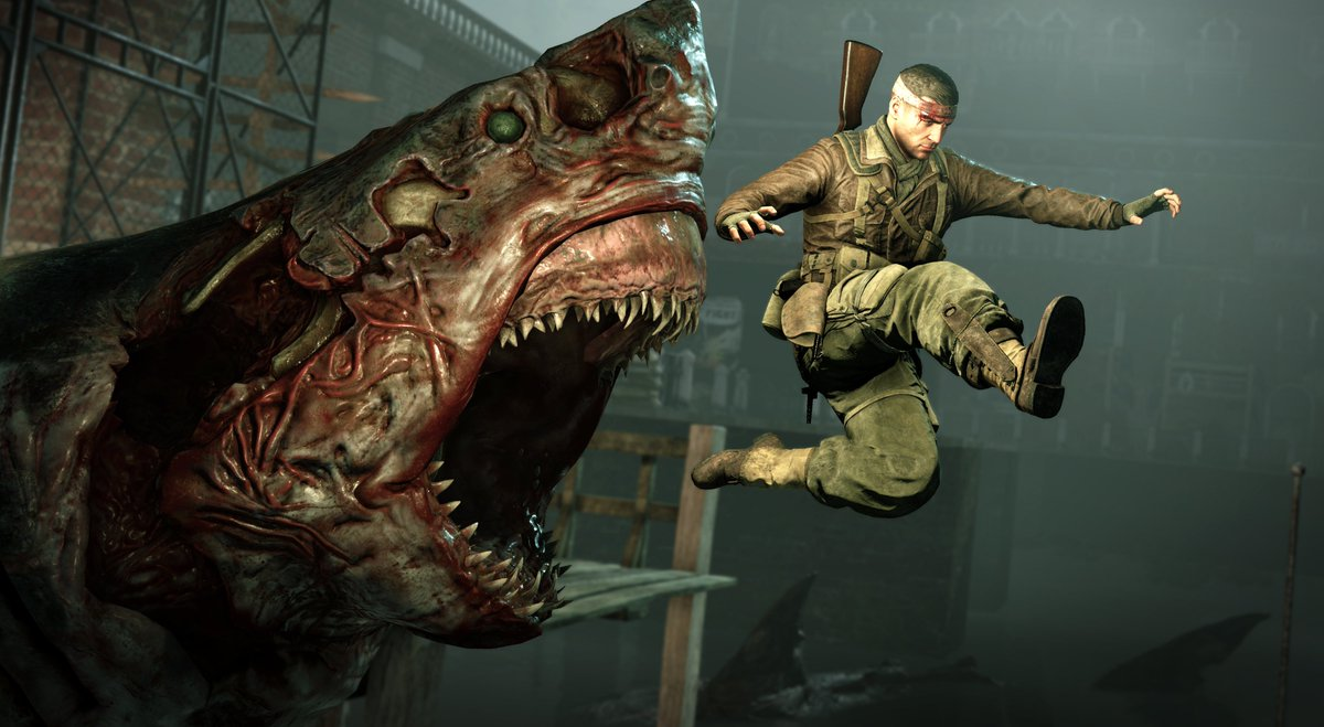 Image result for zombie shark zombie army 4