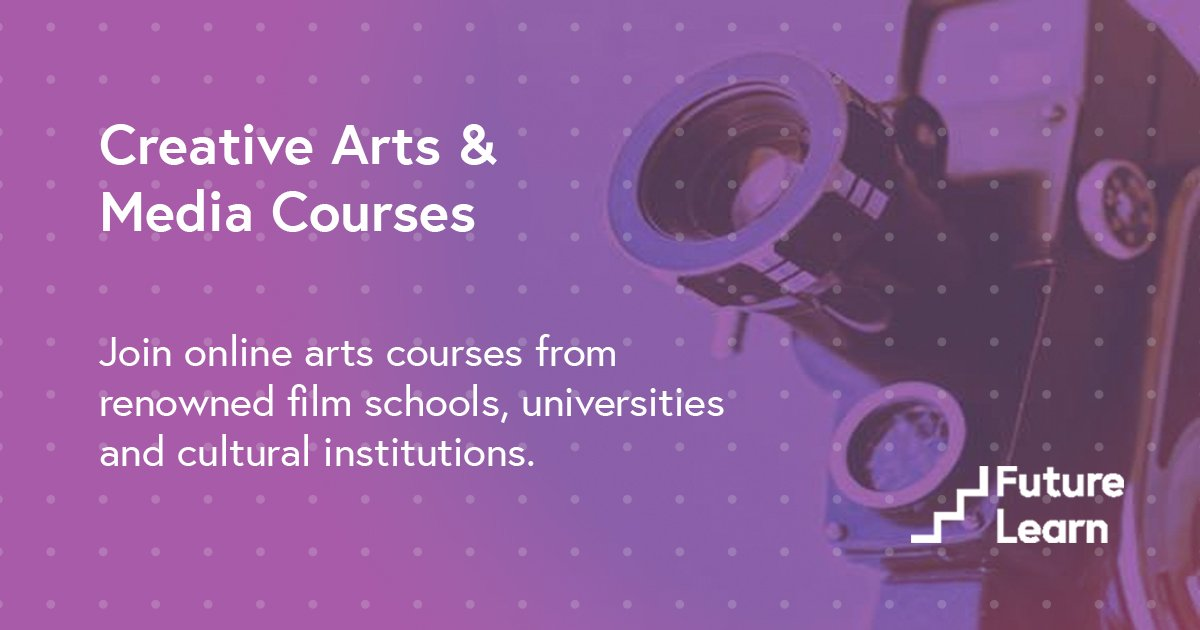 Let's get creative🎼👩🎨🎬. Check out our Creative Arts & Media Courses: ow.ly/lIc050vmbcs