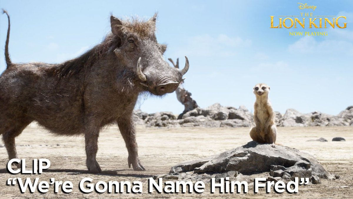 #HakunaMatata! See #Timon (@BillyEichner) and #Pumbaa (@SethRogen) in this brand-new clip from #TheLionKing. See it in 3D now.