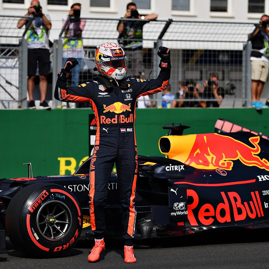Wow! @Max33Verstappen takes his first pole position EVER 💥! Great performance 🎉! #HungarianGP